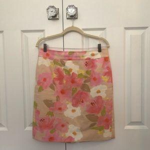 J. Crew Waterfloral Pencil Skirt